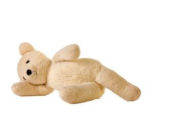 Teddy Bear laying on side