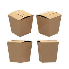 Brown paper taper square butterfly buckle biscuit box with clipp