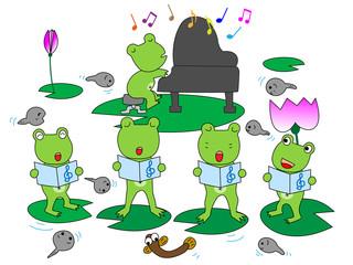 蛙のコーラス