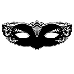 Mask illustration isolated on white background. Elegant and