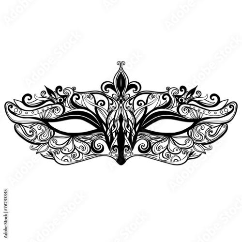 Beautiful vector mask illustration isolated on white background - 76233345