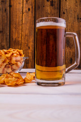 Snack and beer