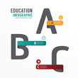 Infographic Education Font Template Design . Concept Vector.