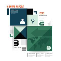 Vector annual report brochure, flyer, magazine cover design.