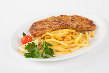Wiener Schnitzel with french fries