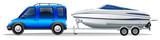 A van and a boat - 76234390