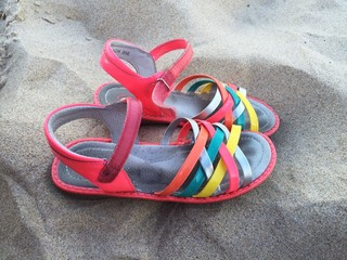 Summer sandals on beach