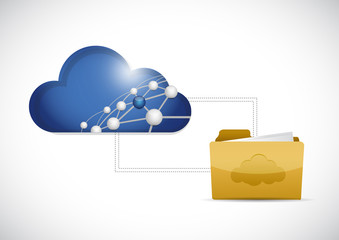 cloud computing folder network illustration