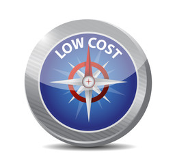 low cost compass illustration design