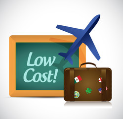 travel low cost concept illustration design