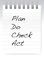 plan do check act notepad illustration design