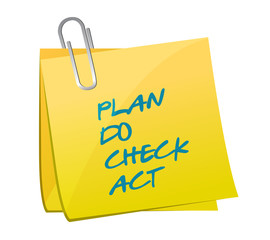 plan do check act memo post illustration