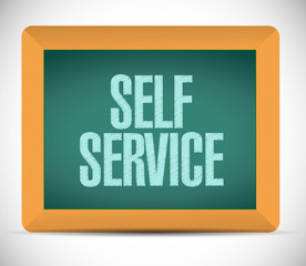 self service board sign illustration design