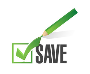 save check mark illustration design