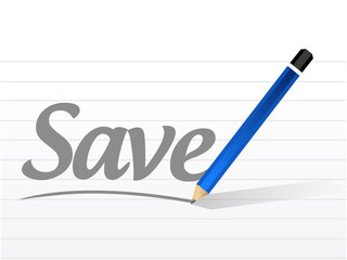 save message sign illustration design