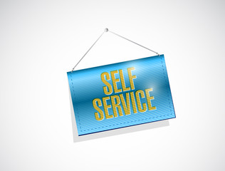 self service hanging banner illustration