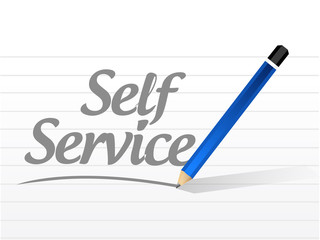 self service sign message illustration