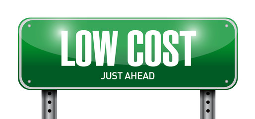 low cost street sign illustration design