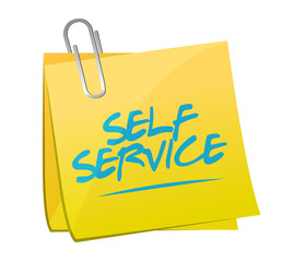 self service post it memo illustration design