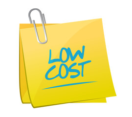 low cost memo post illustration design
