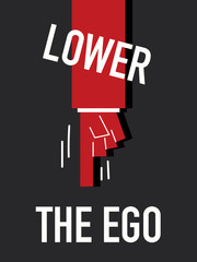 Words LOWER THE EGO
