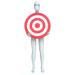 3d people - man, person with a target