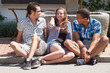 Group of teenager - young peoplehaving fun