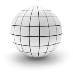 Blank sphere formed by blocks, 3d render