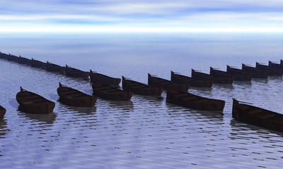 file di barche