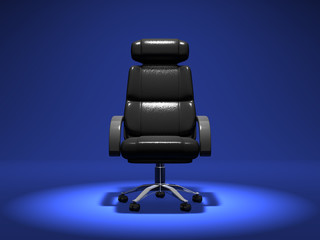 Business Chair On Blue Background