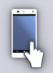 スマートフォンとアイコン