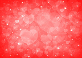red heart bokeh, love background