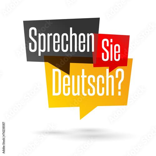 Fototapeta Sprechen Sie Deutsch?