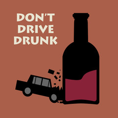 Don't drive drunk, vector