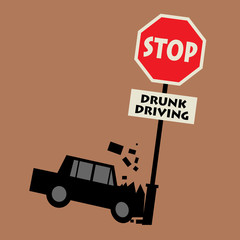 Stop drunk driving, vector