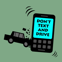 Don't text and drive, vector