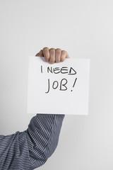 uomo in cerca di lavoro