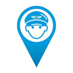 Icono localizacion piloto de aviacion