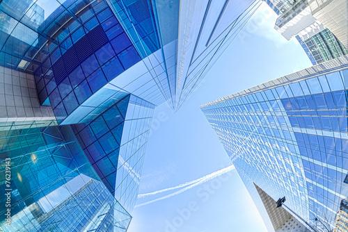 Modern architecture in the business district of La Defense, Pari - 76239143