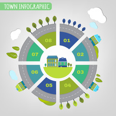 11 town infographics