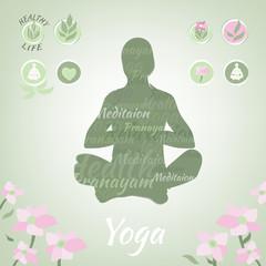 Vector Yoga Illustration