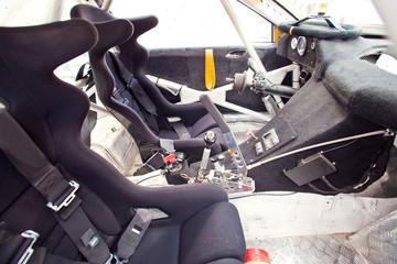 Interior of a racing car