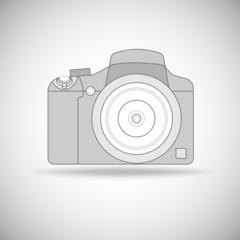 Photo camera outline.