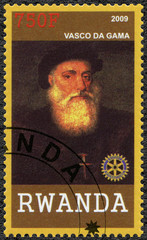 RWANDA - 2009: shows portrait of Vasco da Gama (1460s-1524)