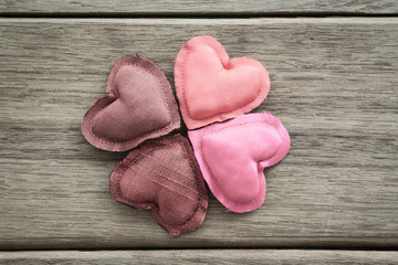 Shades of pink happy love valentine hearts