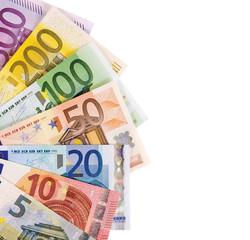 Geldfächer Euroscheine