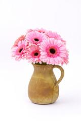 pink gerbera flowers in a vase