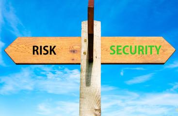 Risk versus Security messages, Lifestyle change conceptual image