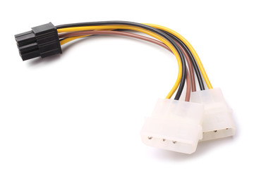 Two Molex connectors to one 6-pin PCI Express connector