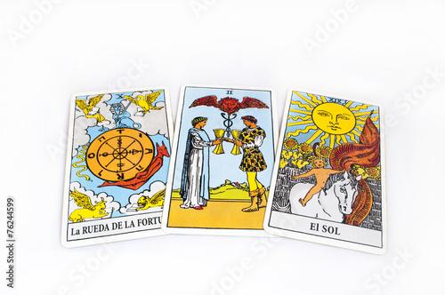 Poster runes and tarot cards